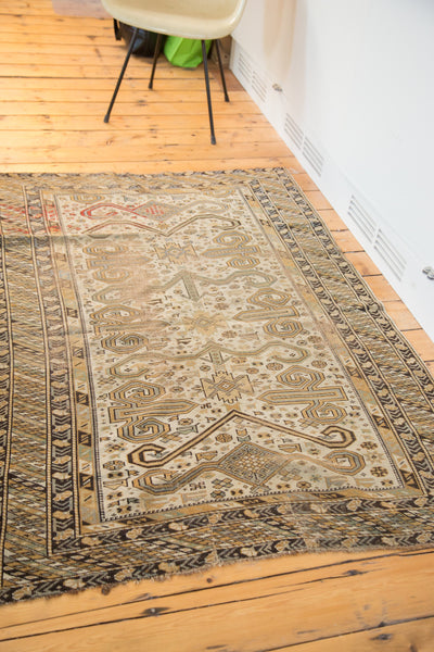 4x6 Distressed Antique Caucasian Rug - Old New House