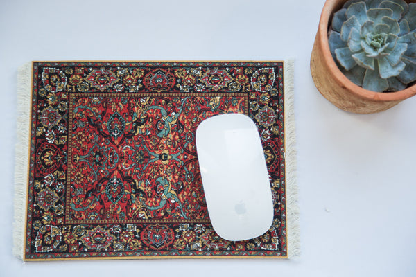 Metropolitan Museum of Art Persian Rug Mouse Pad - Old New House