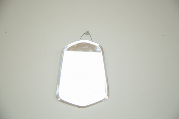 Small Art Deco Bell Shape Beveled Mirror - Old New House
