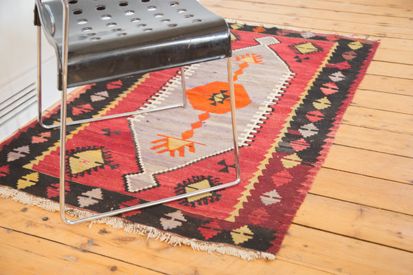 3x5 Vintage Kilim Rug with Purple - Old New House