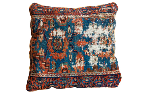Antique Lilihan Rug Handmade Floor Pillow - Old New House