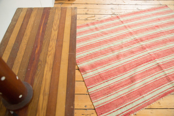 4x5.5 Square Vintage Kilim Rug - Old New House