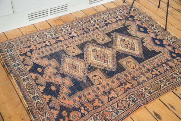 4x5 Antique Distressed Square Afshar Rug - Old New House