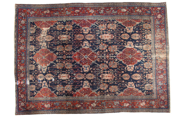 RESERVED 8x11 Vintage Distressed Bibikabad Carpet - Old New House