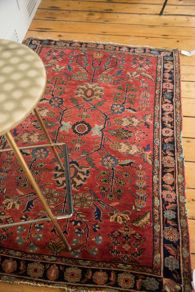 3x5 Distressed Antique Sarouk Rug - Old New House
