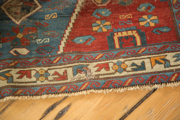 4x5 Antique Distressed Seichor Kuba Rug - Old New House