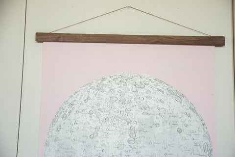 Antique Moon Chart Pull Down Revival in Pink