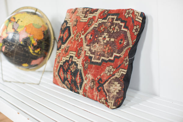 Antique Amu Darya Rug Fragment Pillow - Old New House