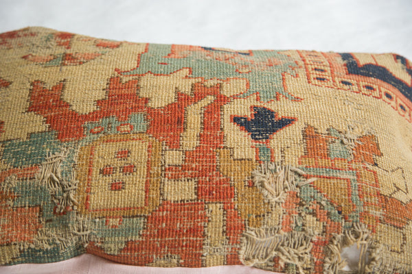 Antique Yellow Serapi Rug Fragment Pillow - Old New House