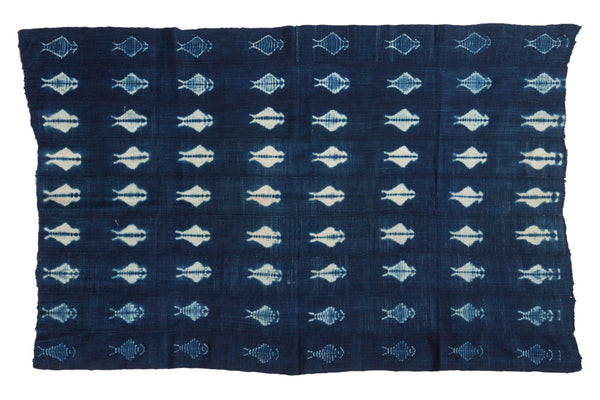 3.5x5.5 Vintage African Textile Throw - Old New House
