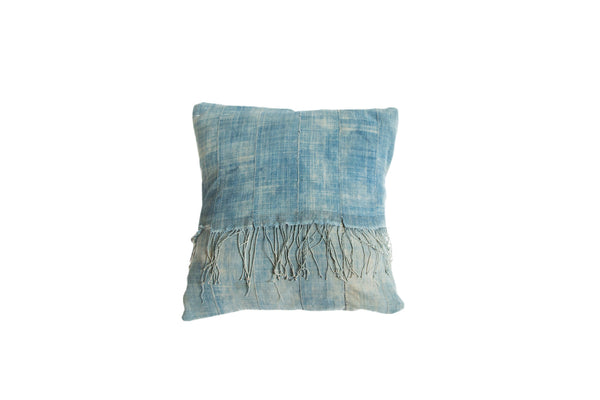 Vintage Light Blue Indigo Pillow - Old New House