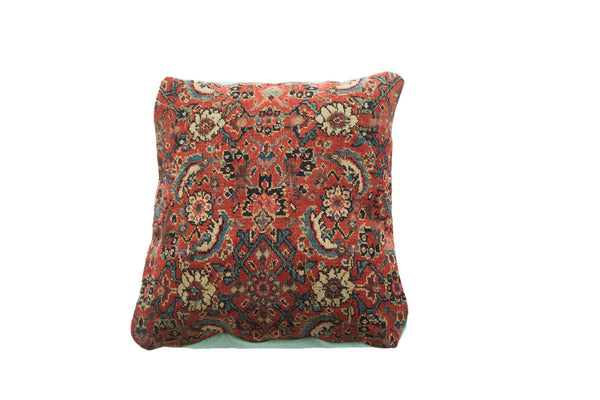 Antique Herati Bijar Rug Fragment Pillow - Old New House