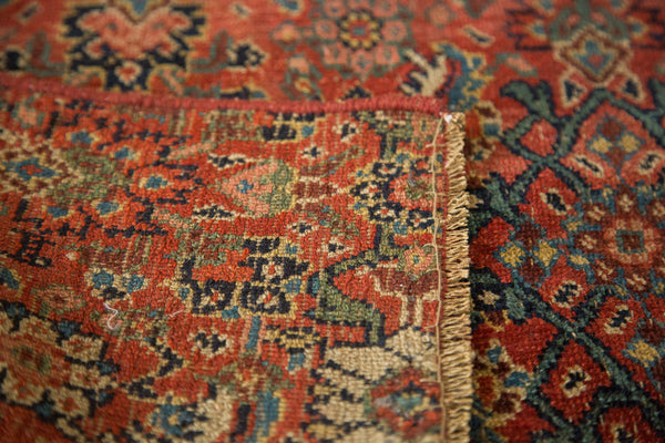 2x4 Antique Bijar Fragment Rug Mat - Old New House