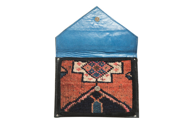 Handmade Rug Fragment Clutch - Old New House