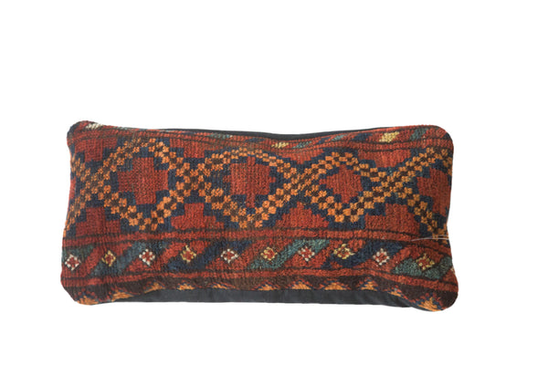 Antique Afghani Rug Fragment Pillow - Old New House