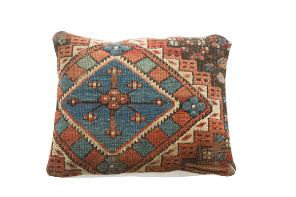Antique Caucasian Rug Fragment Pillow - Old New House