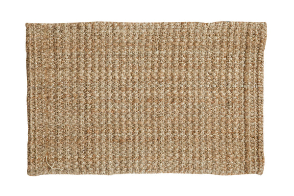 2x3 Hand Braided Beige Entrance Mat - Old New House
