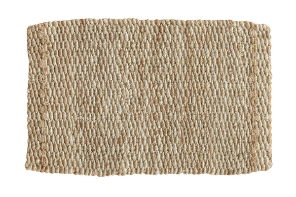 2x3 Hand Braided Grey Entrance Mat - Old New House