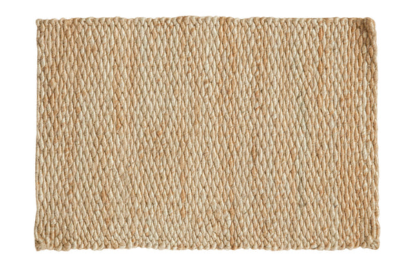 2x3.5 Hand Braided Gold Entrance Mat - Old New House