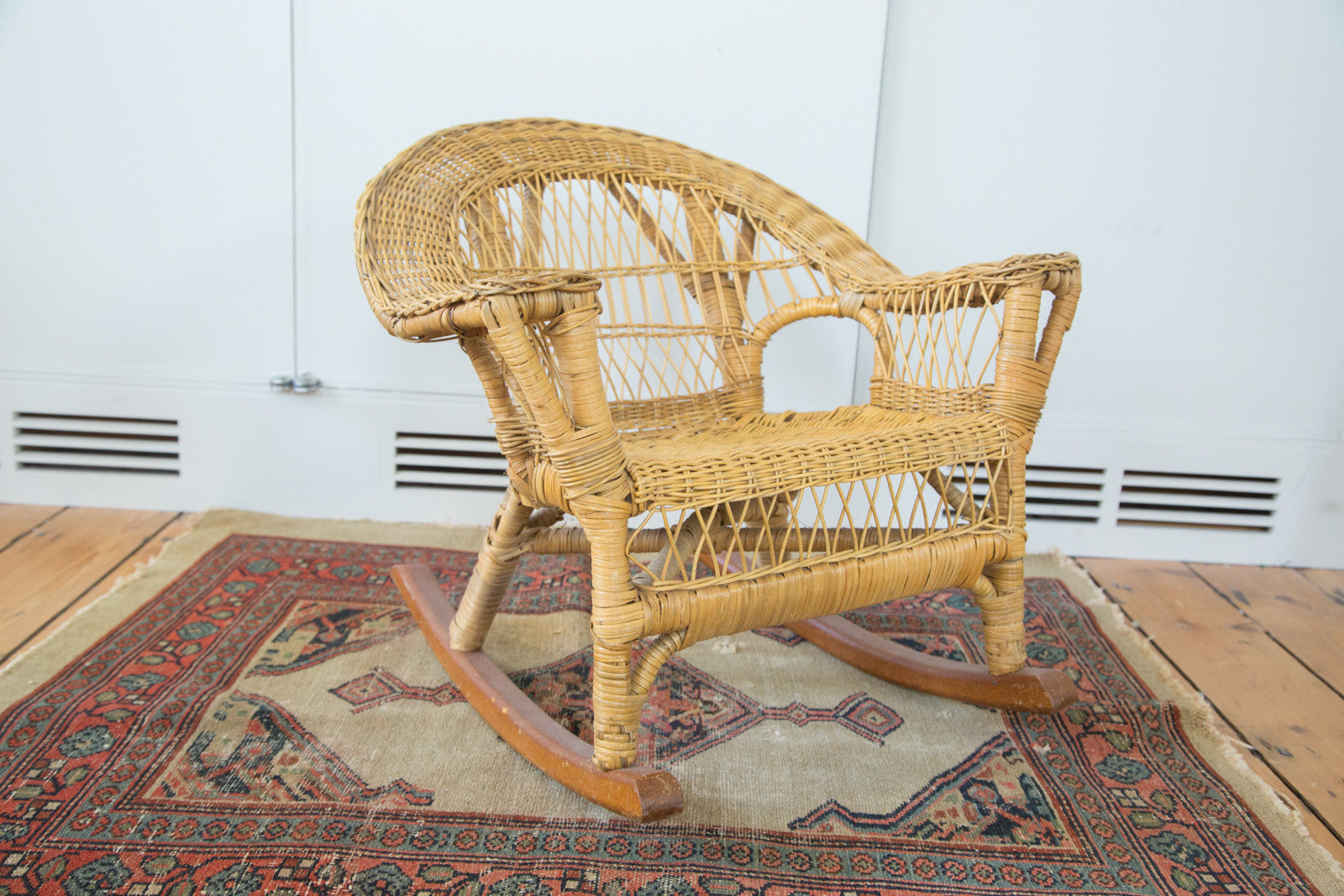 Previous Image Next Image. Sold. Vintage Boho Wicker Childu0027s Chair ...