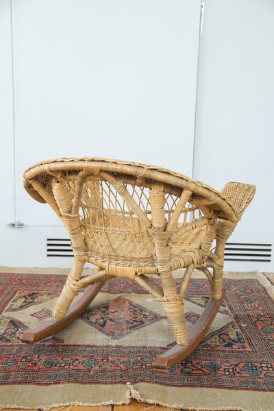 Vintage Boho Wicker Child's Chair - Old New House