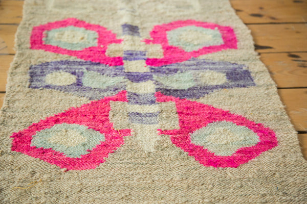 2x3 Vintage Homemade American Kilim Rug Mat - Old New House