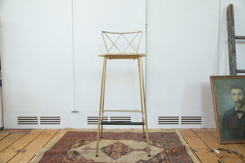 Vintage Hollywood Regency Stool - Old New House