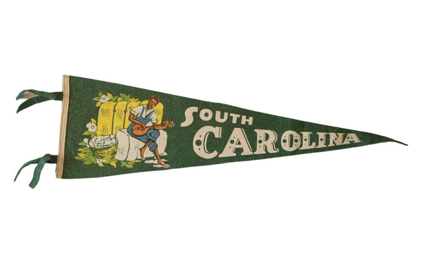 South Carolina Vintage Felt Flag - Old New House