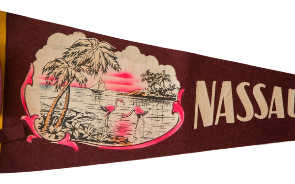 Nassau Bahamas Vintage Felt Flag - Old New House