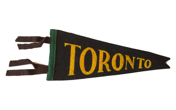 Handmade Toronto Vintage Felt Flag - Old New House