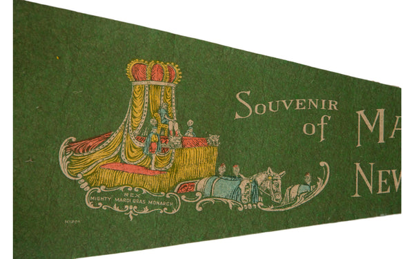 Mardi Gras New Orleans Vintage Felt Flag - Old New House