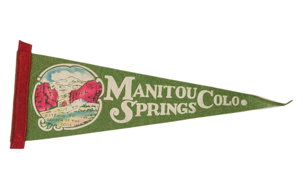 Manitou Springs CO Vintage Felt Flag - Old New House