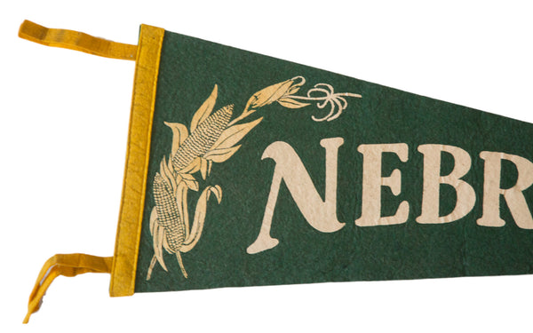 Nebraska Corn Vintage Felt Flag - Old New House