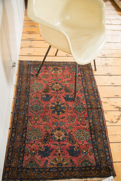 2.5x4 Vintage Painted Lilihan Sarouk Rug - Old New House