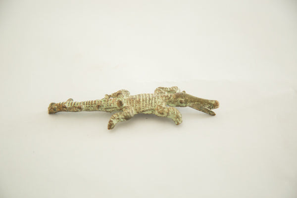 Vintage African Bronze Crocodile Casting - Old New House
