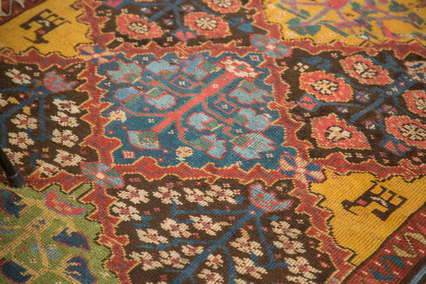 4.5x7 Vintage Colorful Turkish Melas Rug - Old New House