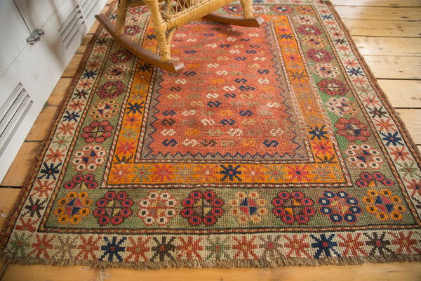 3x4 Antique Unique Caucasian Square Rug - Old New House