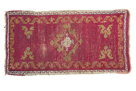 1.5x3 Antique Turkish Oushak Rug Mat // ONH Item 2619
