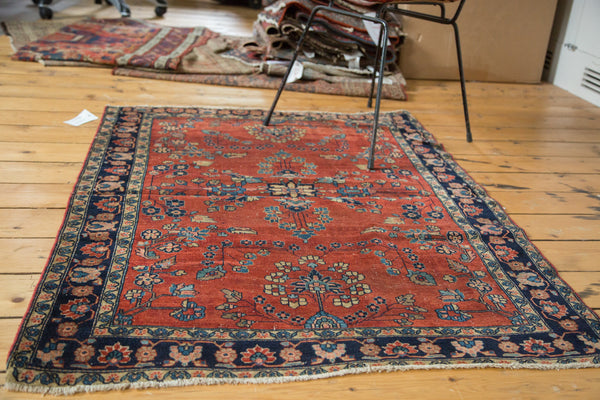 Antique Manchester Kashan Square Rug / Item 2627 image 4