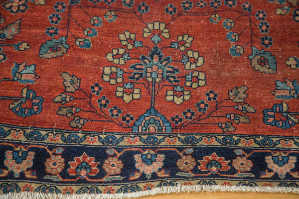 Antique Manchester Kashan Square Rug / Item 2627 image 5