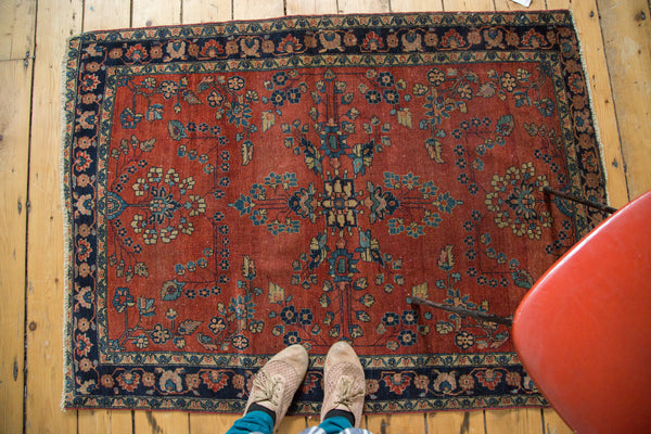 Antique Manchester Kashan Square Rug / Item 2627 image 7