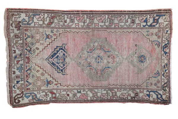 3x5.5 Fun Vintage Oushak Rug - Old New House