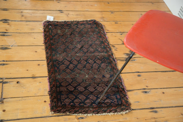 1.5x3 Unusual Antique Boteh Belouch Rug Mat - Old New House