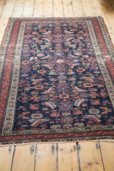 4x6.5 Distressed Antique Malayer Rug - Old New House