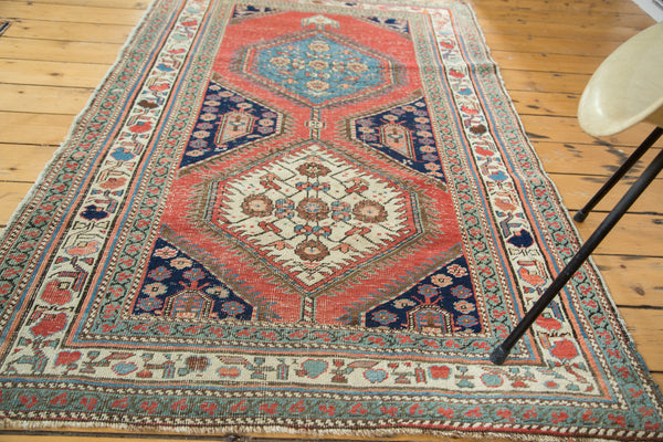 3.5x6 Distressed Antique Northwest Persian Rug Fragment - Old New House