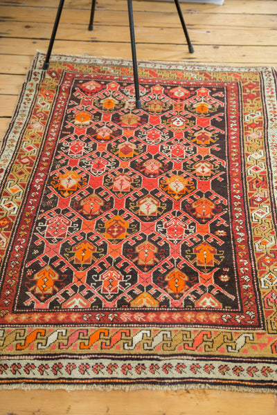 3x4.5 Vintage Caucasian Rug - Old New House