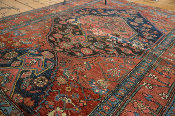 4.5x6 Distressed Antique Fragmented Halvaie Bijar Rug - Old New House