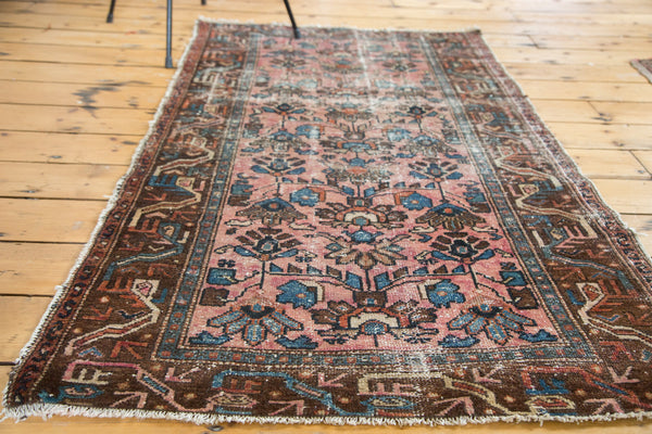 3x5.5 Distressed Antique Lilihan Rug - Old New House