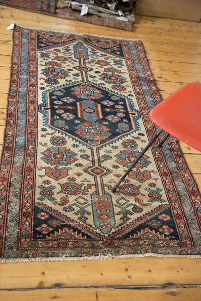 3x6 Distressed Antique Hamadan Rug Runner - Old New House