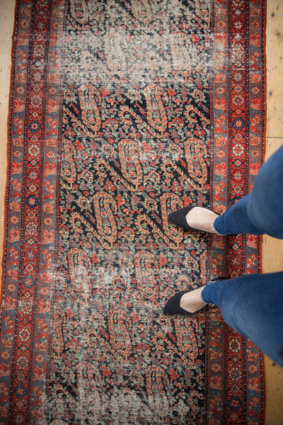 Distressed Antique Paisley Malayer Rug Runner / Item 2667 image 16